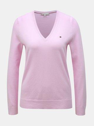 Svetloružový dámsky sveter Tommy Hilfiger