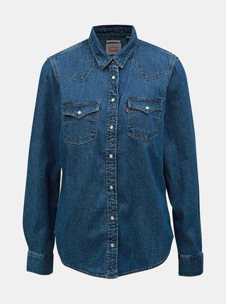 Camasa albastra classic fit de dama din denim Levi's®