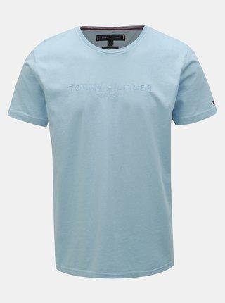 8157aaf829 Světle modré pánské tričko Tommy Hilfiger