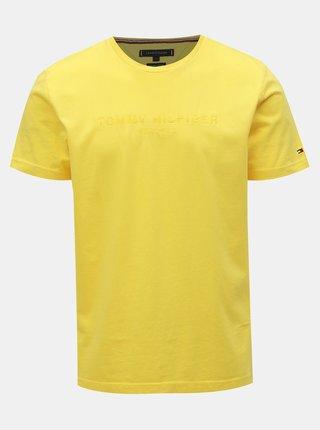 Žluté pánské tričko Tommy Hilfiger
