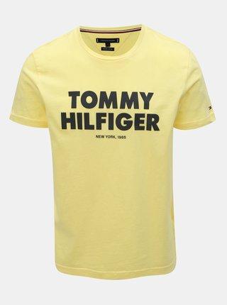 916bbd4873cf Žlté pánske tričko s potlačou Tommy Hilfiger