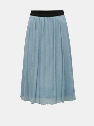 Modrá sukně s metalickými vlákny VERO MODA Aurora