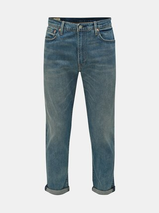 Blugi barbatesti albastri tapered fit pana la glezne Levi's® 502