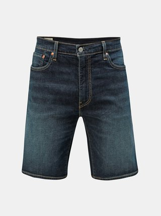 Pantaloni scurti albastru inchis din denim Levi's® 502