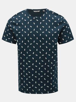 Tmavě modré tričko s potiskem ONLY & SONS Pineapple