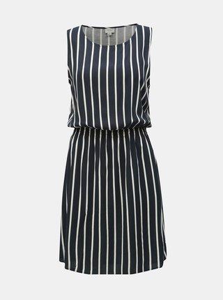 Tmavomodré pruhované šaty Jacqueline de Yong Star