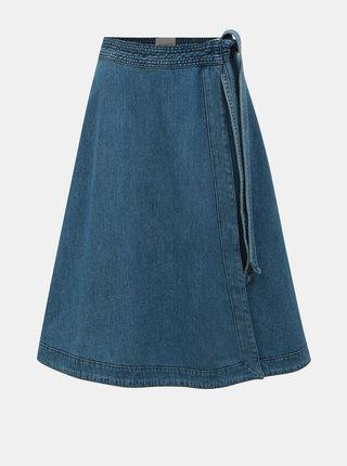 Modrá džínová zavinovací sukně Selected Femme Jenner