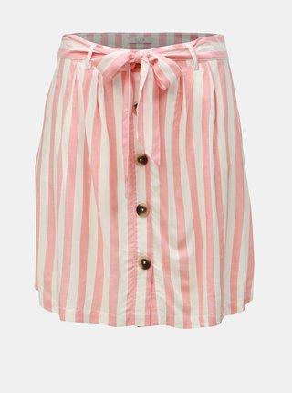 a490913f0364 Krémovo–ružová pruhovaná sukňa VILA Harper