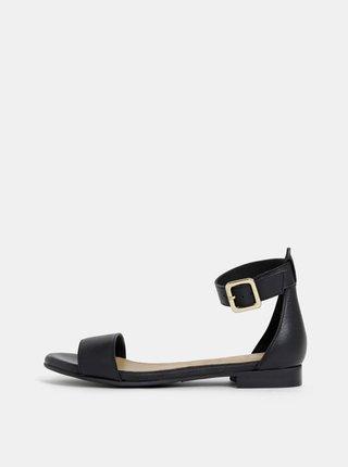 Čierne kožené sandále Selected Femme Merle