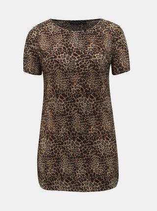 Tunica plisata maro cu motiv leopard Dorothy Perkins Curve