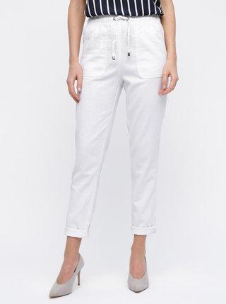 Biele ľanové nohavice M&Co