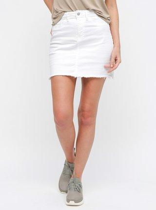 affbdea7d86c Bílá džínová minisukně s roztřepeným lemem Jacqueline de Yong Anica