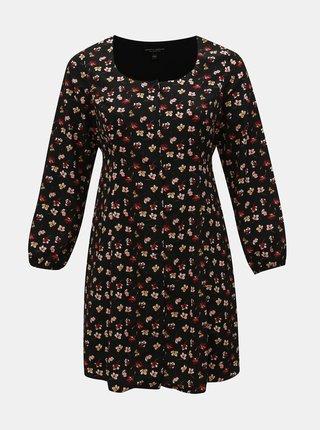 bb9e9d73ba4c Čierne kvetované šaty Dorothy Perkins Curve