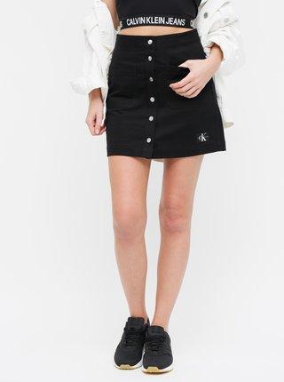 Černá džínová minisukně Calvin Klein Jeans