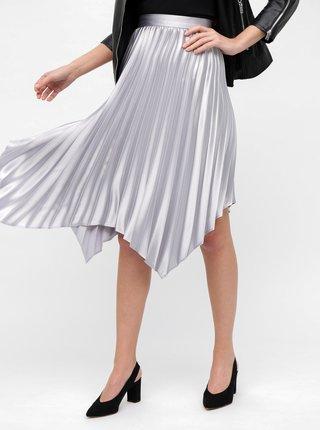 Plisovaná sukňa v striebornej farbe Dorothy Perkins