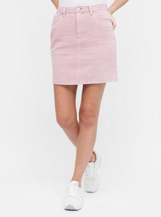 Ružová rifľová sukňa VERO MODA Kathy