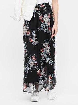 Černá květovaná maxi sukně VERO MODA Wonda