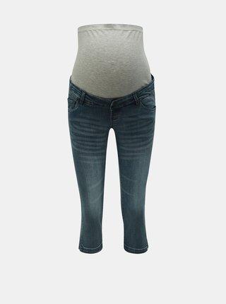 Blugi 3/4 albastri slim fit pentru femei insarcinate Mama.licious Golden