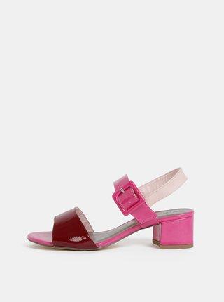Růžové lesklé sandály Tamaris