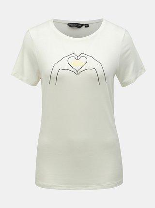Tricou alb cu imprimeu Dorothy Perkins