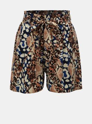 Pantaloni scurti maro cu motiv sarpe Dorothy Perkins