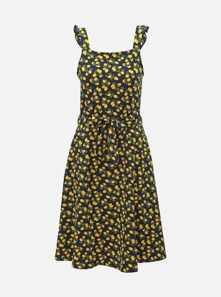 Tmavomodré vzorované šaty Dorothy Perkins Tall