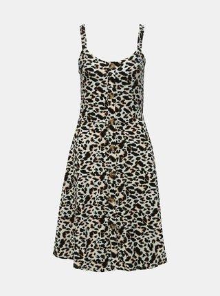 Černo-bílé šaty s leopardím vzorem Dorothy Perkins Tall