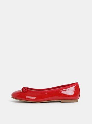 Červené lesklé baleríny Tamaris