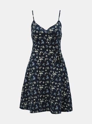 Tmavomodré kvetované šaty na ramienka Dorothy Perkins