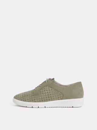 Pantofi kaki perforatii Tamaris