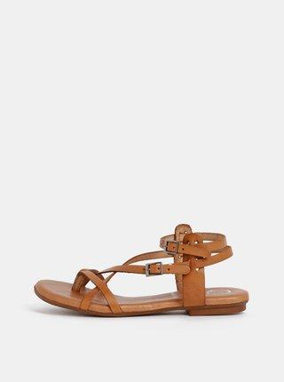 Sandale maro din piele OJJU