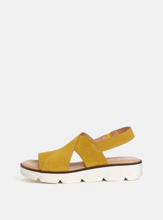 Hořčicové semišové sandály OJJU