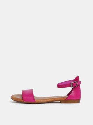 Sandale roz inchis din piele OJJU