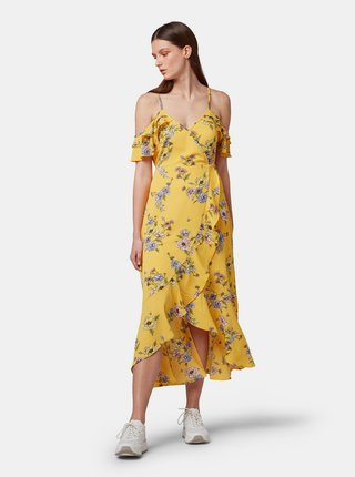 Žlté kvetované šaty Tom Tailor Denim