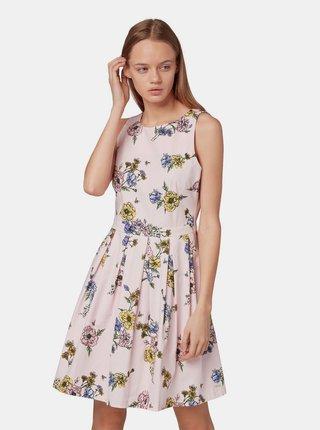 Světle růžové květované šaty Tom Tailor Denim