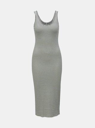 Čierno–biele pruhované puzdrové šaty ONLY Cami