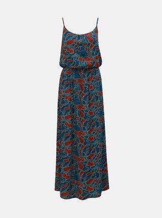 Rochie maxi albastra cu model si bretele ONLY Nova