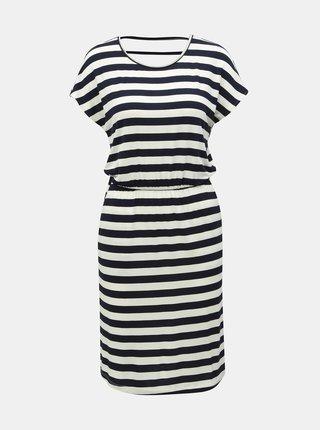 fc3d7567ddc8 Bielo–modré pruhované šaty s prestrihmi ONLY Bali