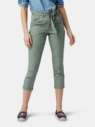 Zelené dámske skrátené nohavice Tom Tailor