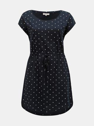 Tmavě modré puntíkované šaty ONLY CARMAKOMA April