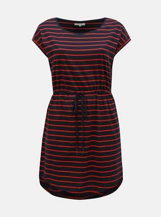 Červeno–modré pruhované šaty ONLY CARMAKOMA April