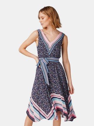 Rochie albastru inchis cu model Tom Tailor