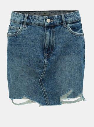 Modrá džínová minisukně s potrhaným efektem ONLY Sky