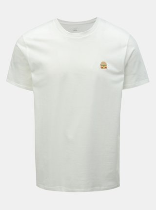 Tricou alb cu broderie Burton Menswear London