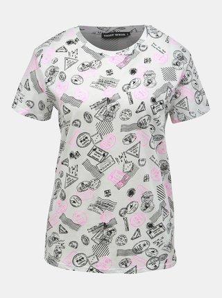 Biele vzorované tričko TALLY WEiJL