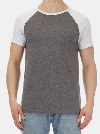 Šedé žíhané tričko Burton Menswear London