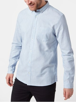 Camasa albastru deschis cu buzunar Burton Menswear London