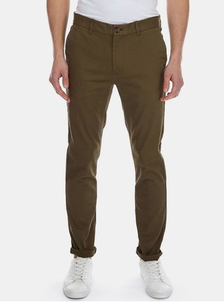 Kaki skinny fit chino nohavice Burton Menswear London