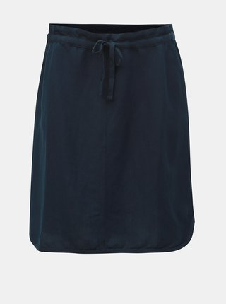 Tmavomodrá ľanová sukňa Tom Tailor