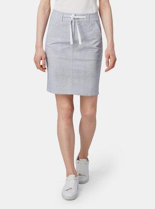 Světle šedá vzorovaná sukně Tom Tailor